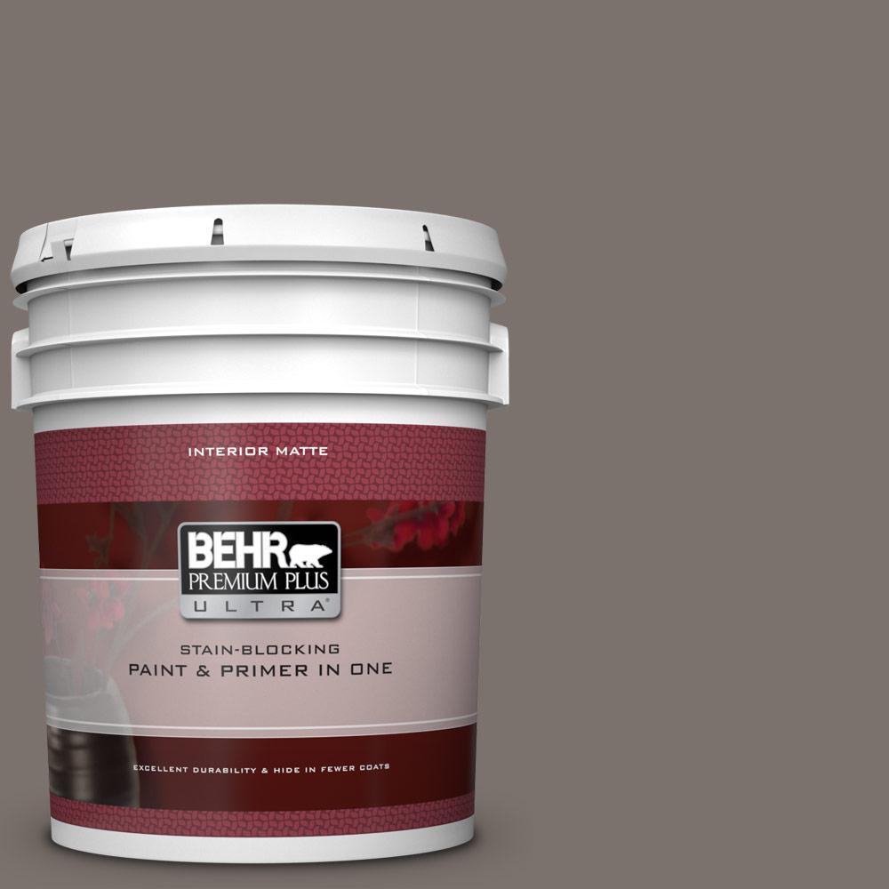 BEHR Premium Plus Ultra 5 gal  #MQ2-58 Unpredictable Hue Matte Interior  Paint and Primer in One