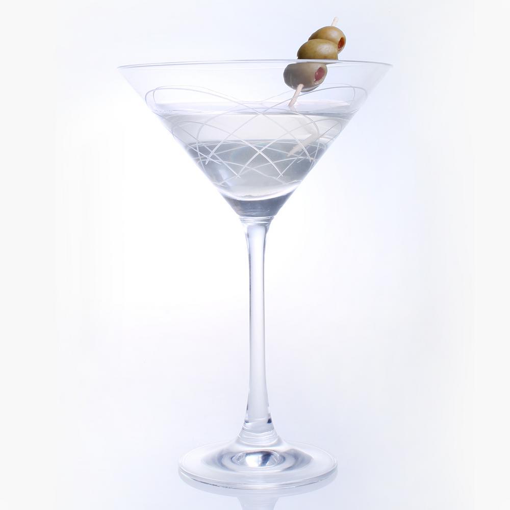Mid-Century Modern 10 oz. Clear Martini (Set of 4)