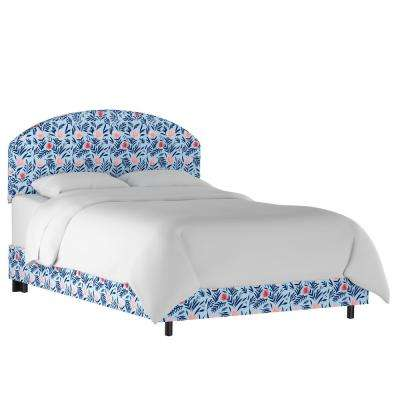 Darcy Bloom Porcelain Blush Queen Curved Bed