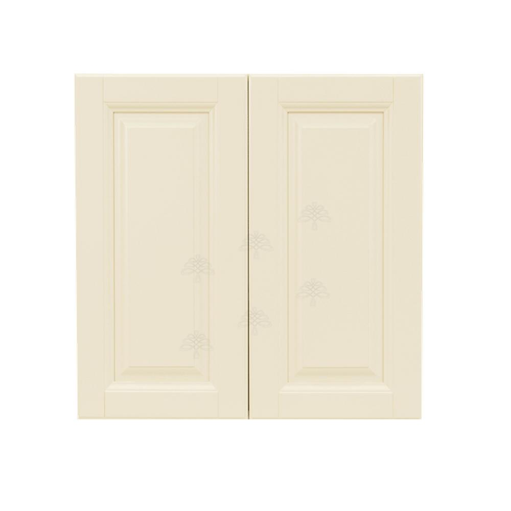 Lifeart Cabinetry Oxford Creamy White Plywood Raised Panel Stock Assembled Wall Kitchen Cabinet 33 In W X 36 In H X 12 In D Ao W3336 The Home Depot