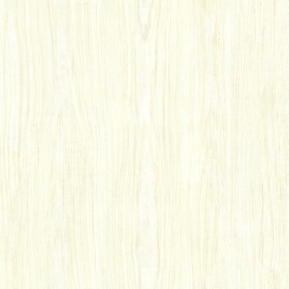 Brewster Cream Tanice Faux Wood Texture Wallpaper Sample HZN43051SAM