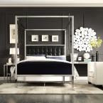 Taraval Black King Canopy Bed