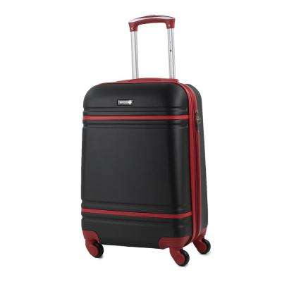 Varsity 20 in. Black/Red Carry-On Hardside Spinner Luggage