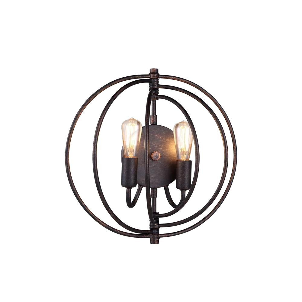 Elegant lighting vienna 2 light dark bronze wall sconce 1453w13db elegant lighting vienna 2 light dark bronze wall sconce aloadofball Image collections