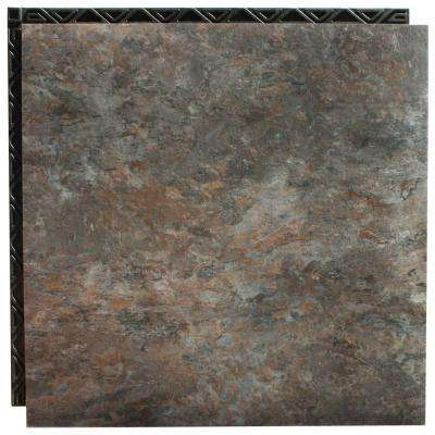 Blue Shale 18.5 in. x 18.5 in. Interlocking Waterproof Vinyl Tile with Built-In Underlayment (19.04 sq. ft. / case)