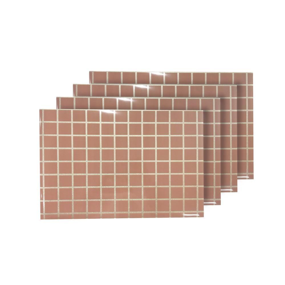 Square Up Blush Reversible Metallic Printed Placemats (Set of 4)