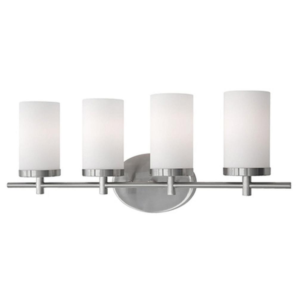 Bailey 4-Light Brushed Nickel Bath Light