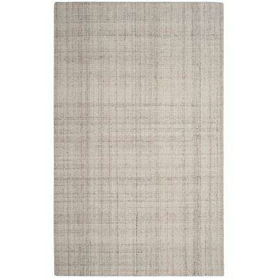 Abstract Light Gray 6 ft. x 9 ft. Area Rug