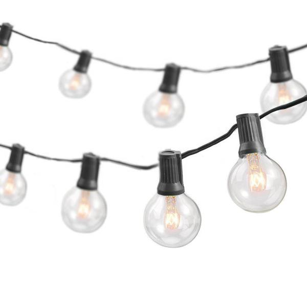 50 ft. Indoor/Outdoor Weatherproof Party String Lights with 50 Sockets Light Bulbs Included