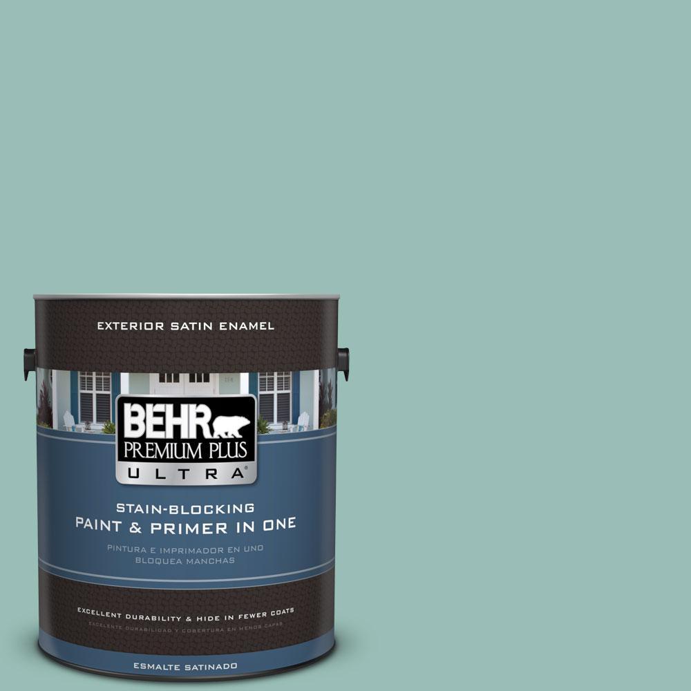 BEHR Premium Plus Ultra 1-gal. #PPU12-7 Spring Stream Satin Enamel Exterior Paint