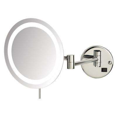 10 in. x 11 in. Single LED Lighted Wall Makeup Mirror