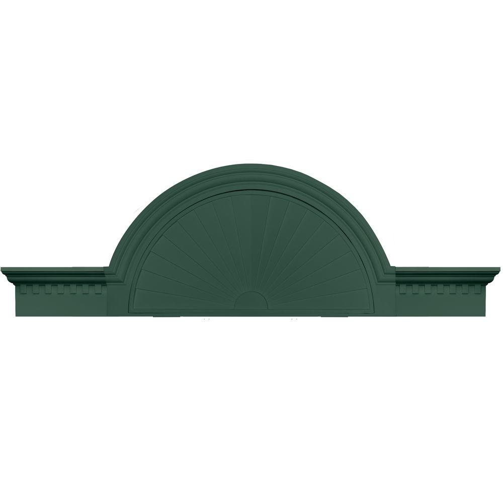 Builders Edge 36 in. - 69 in. Classic Dentil Panel Window and Door Accent in 028 Forest Green-DISCONTINUED