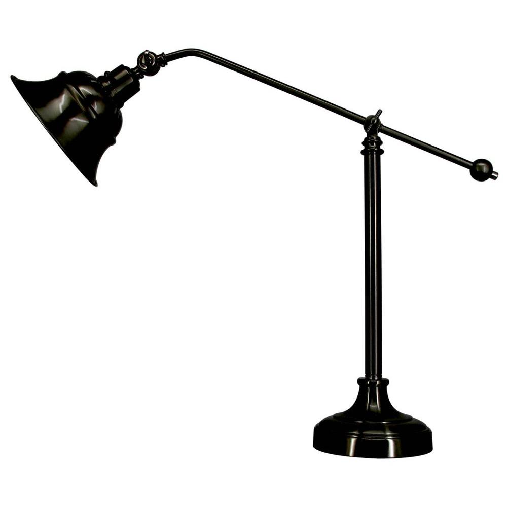 null STA Indoor Black Finish Metal Task Table Lamp-DISCONTINUED