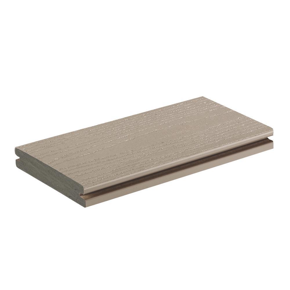 AZEK Harvest 1 in. x 5.5 in. x 1 ft. Slate Gray PVC Deck Board Sample