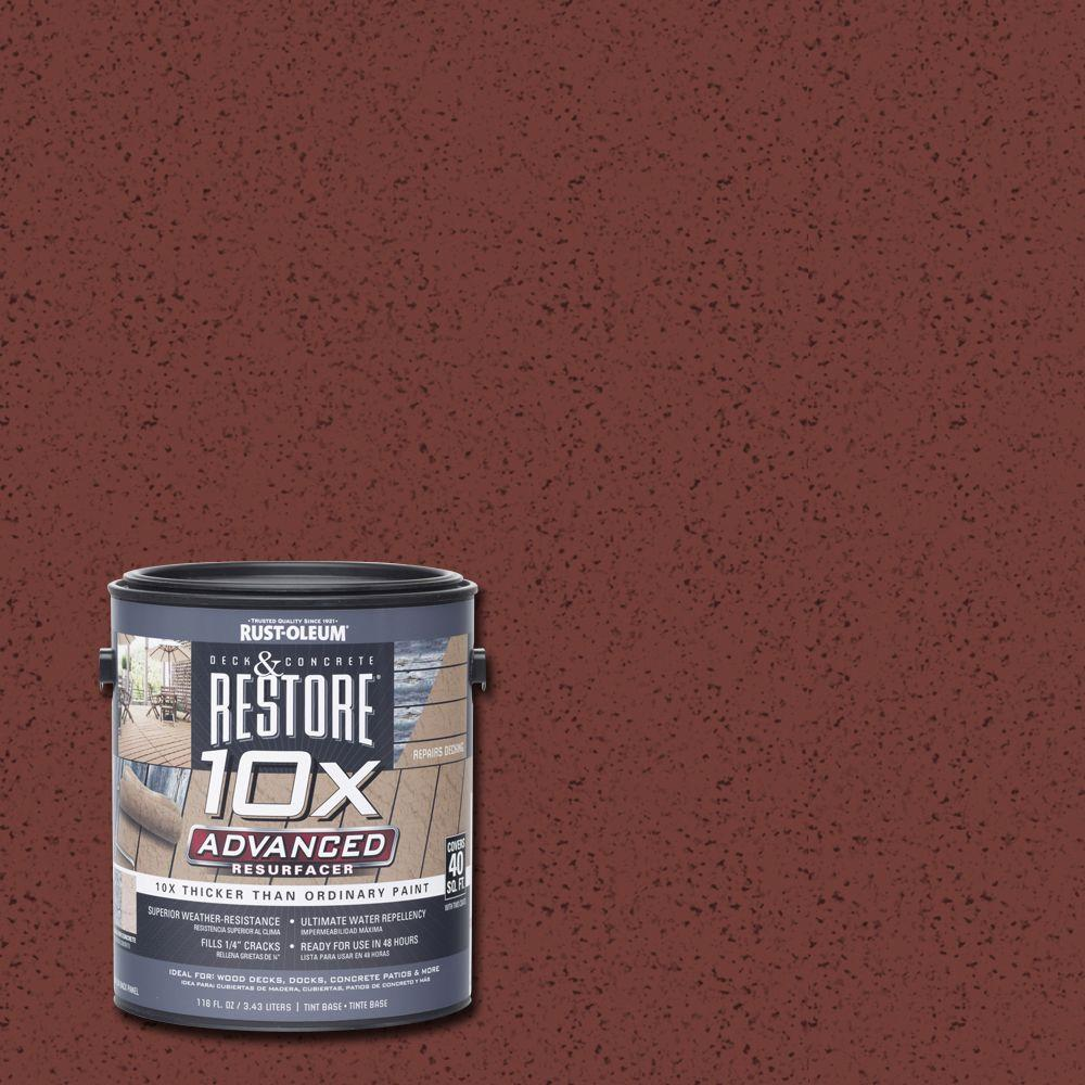 Rust-Oleum Restore 1 gal. 10X Advanced Navajo Red Deck and Concrete Resurfacer