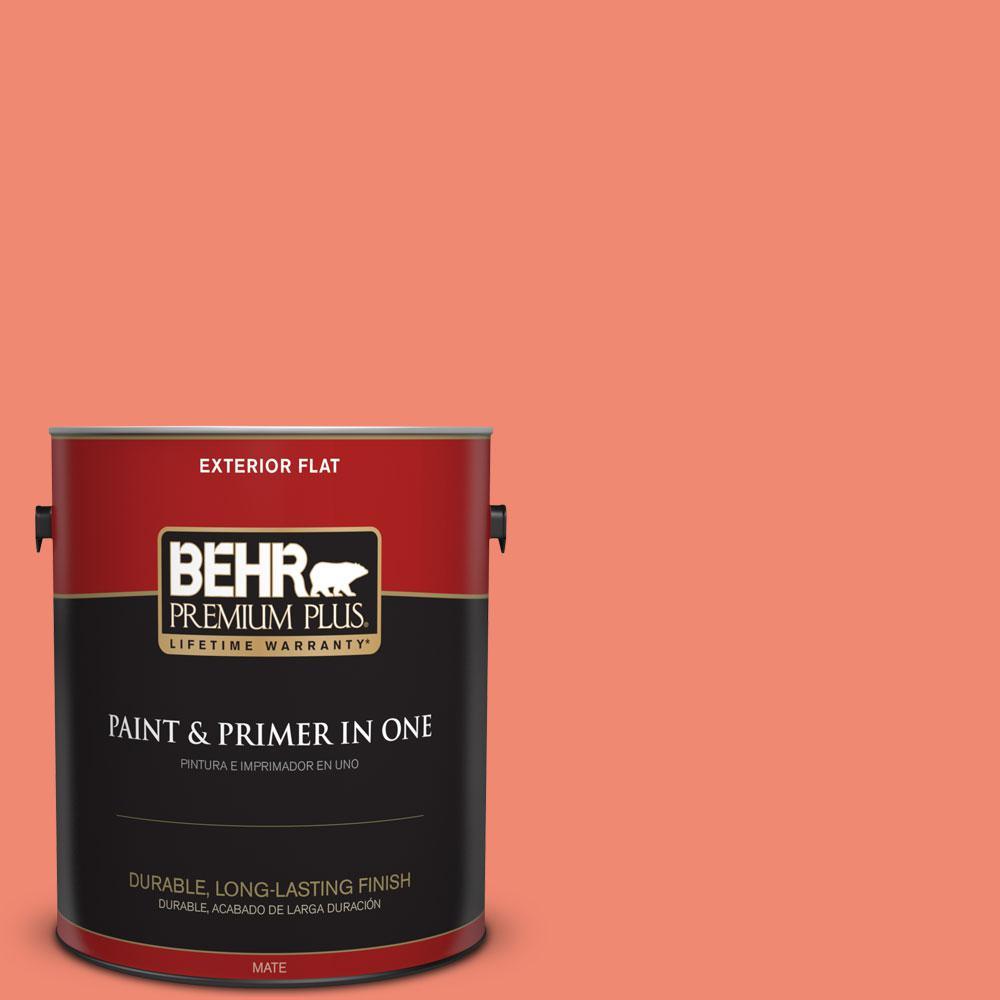 BEHR Premium Plus 1-gal. #190B-5 Juicy Passionfruit Flat Exterior Paint