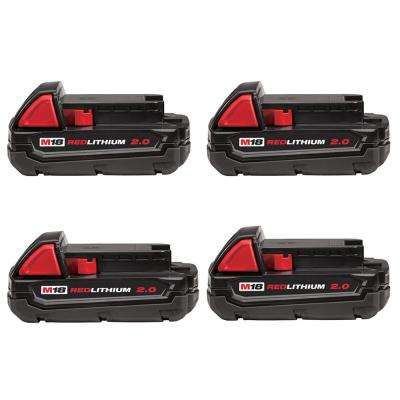 M12 12-Volt Lithium-Ion Compact Battery Pack 2.0Ah (4-Pack)
