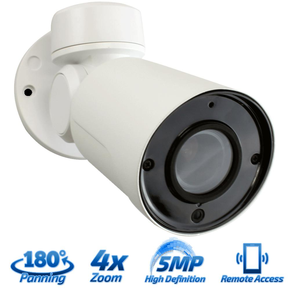 7b7b1b8ef03 GW Security Wired 5MP Indoor Outdoor PTZ IP PoE Surveillance Camera IR  Distance 130 ft