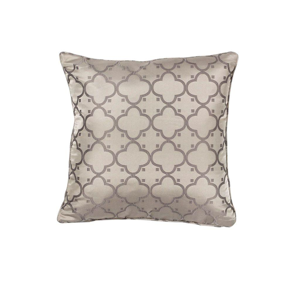 Throw Pillows And Rugs : Kas Rugs Hudson Taupe Decorative Pillow-PILL25018SQ - The Home Depot
