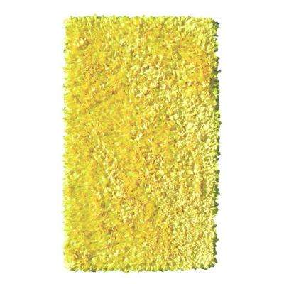 Shaggy Raggy Yellow Neon 5 ft. x 8 ft. Indoor Area Rug