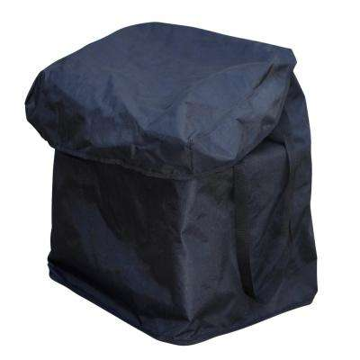 Heavy-Duty Small Nylon Removable Shopping Cart Liner in Black with Handles