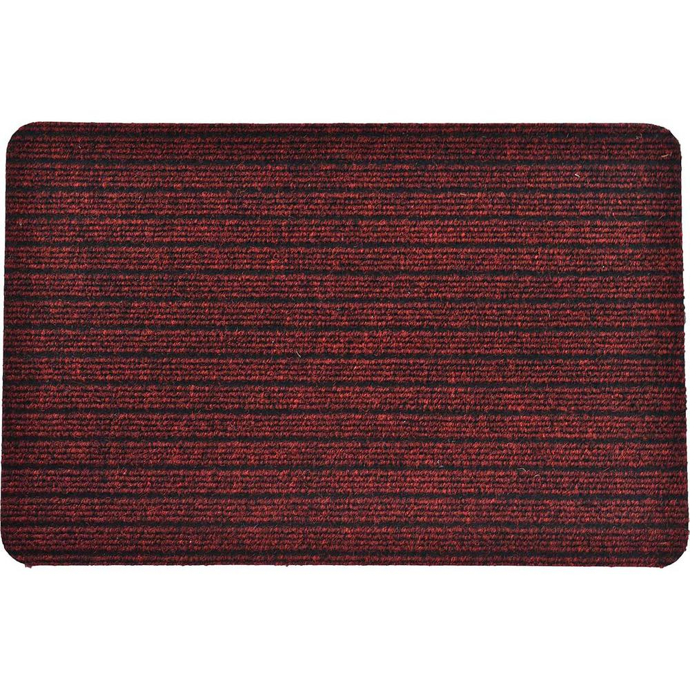 Outdoor Front Door Mats.Evideco Outdoor Front Door Mat Chloe Polypropylene Latex Rug 16 In X 24 In Maroon