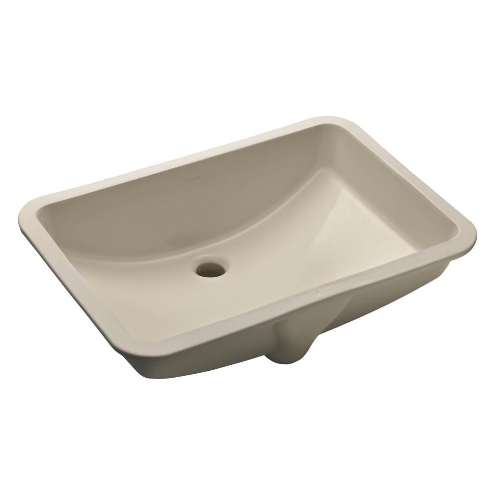 Kohler ladena 23 1 4 undermount bathroom sink in sandbar with overflow drain k 2215 g9 the Kohler bathroom design tool
