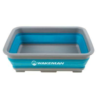 10l Blue Collapsible Portable Wash Basin