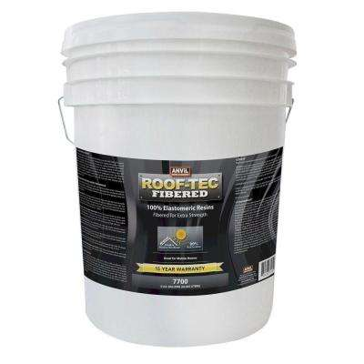 5 Gal. Fibered White Elastomeric Reflective Roof Coating