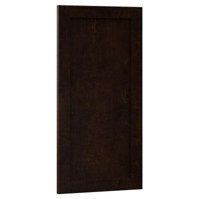 0.75x29.37x14.50 in. Shaker Island Decorative End Panel in Java