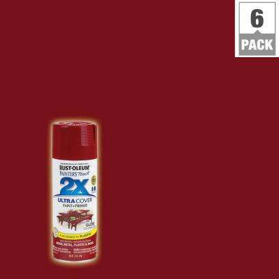12 oz. Colonial Red Gloss General Purpose Spray Paint (6-Pack)