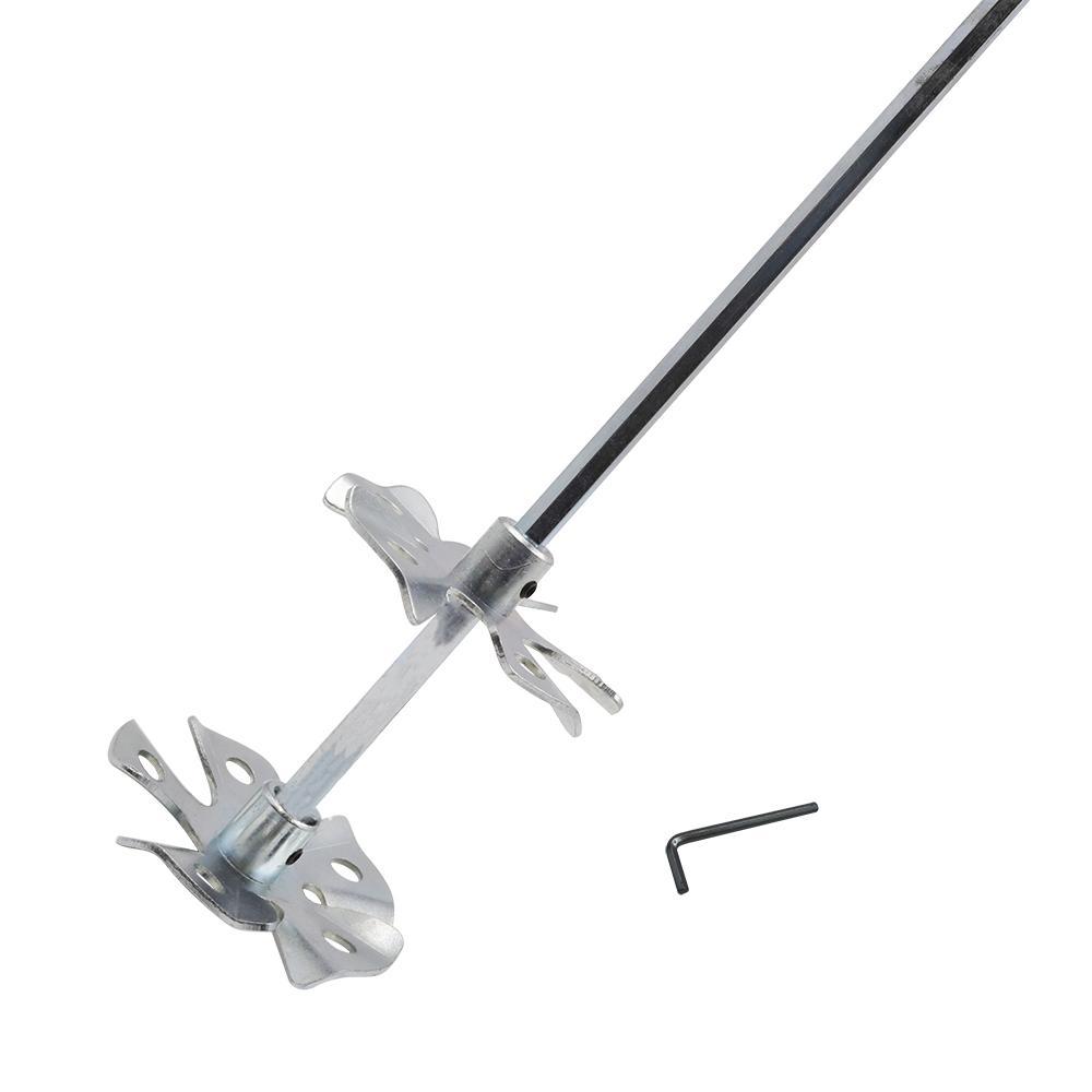 2-1/4 in. x 11 in. Steel Power Mixer with Adjust Wheels