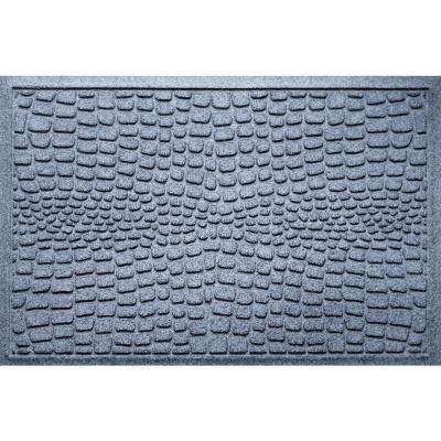 Alligator Bluestone 24 in x 36 in Polypropylene Door Mat
