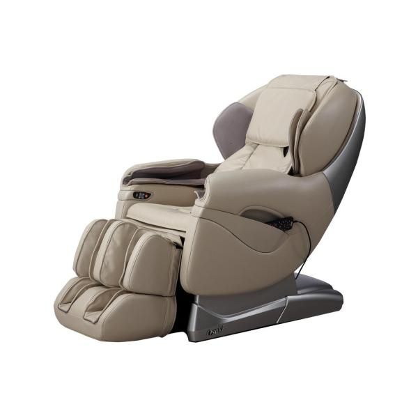 Pro Series Tan Faux Leather Reclining Massage Chair