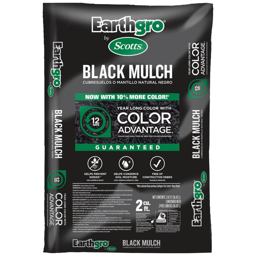 Scotts Earthgro 2 cu. ft. Black Mulch
