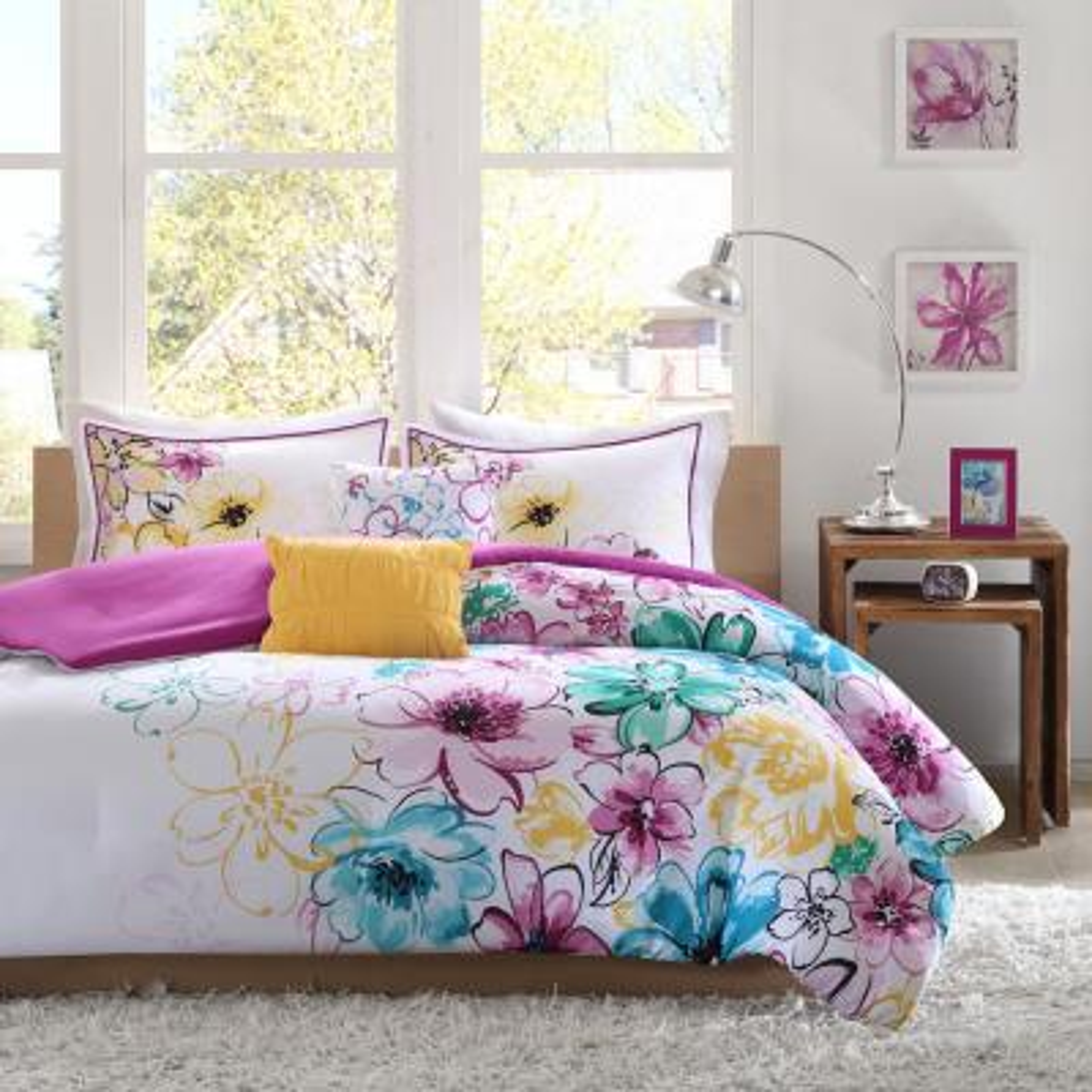 Ashley 5-Piece Blue Full/Queen Comforter Set