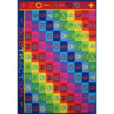 Fun Time Addition Multi Colored 8 ft. x 11 ft. Area Rug