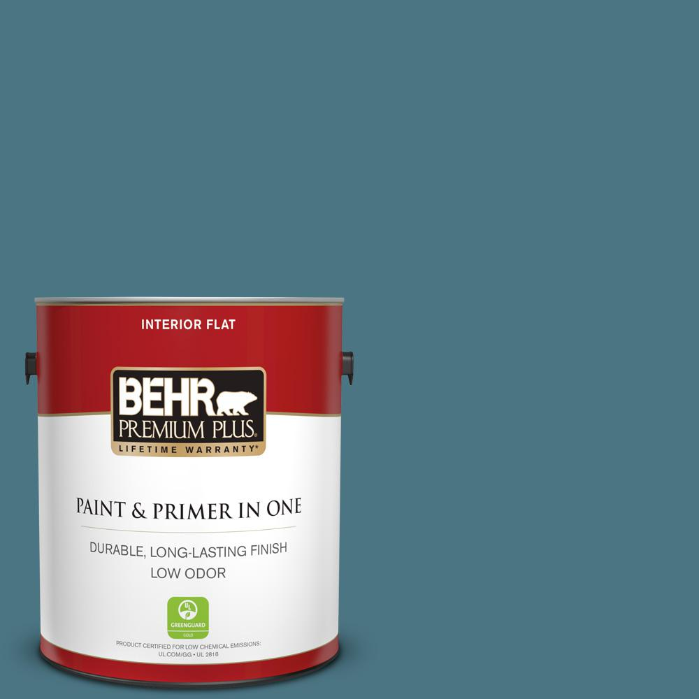 Behr Premium Plus 1 Gal 530f 6 Heron Flat Low Odor Interior Paint And Primer In One 130001 The Home Depot
