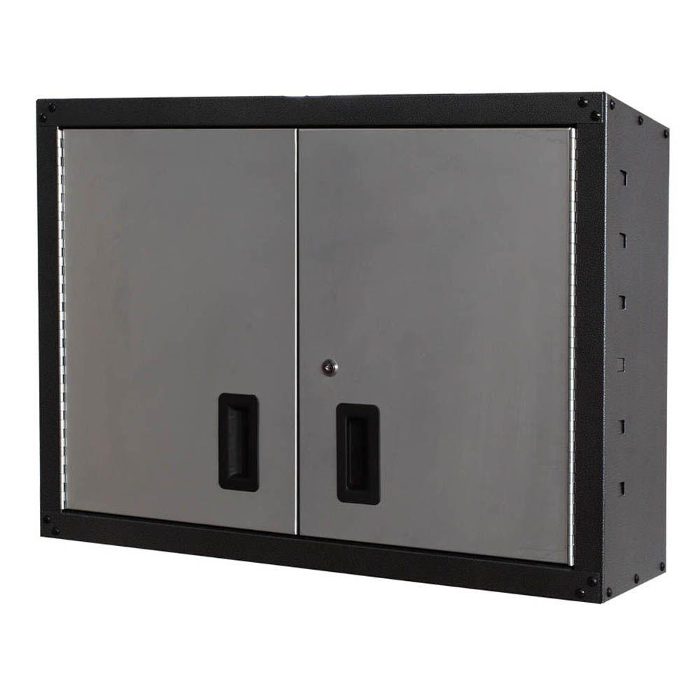 GOSII 32 In. And 2 Doors Wall Cabinet, Gray