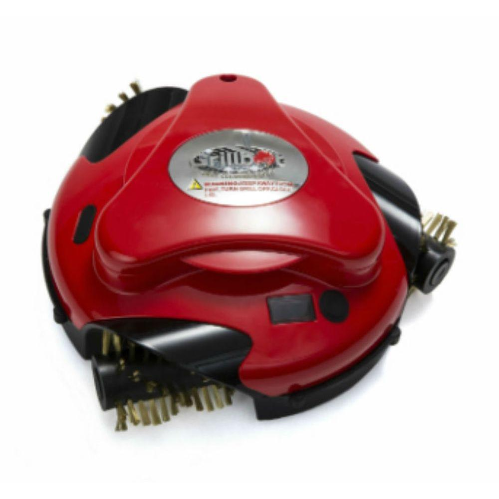 Red Automatic Grill Cleaning Robot with installed Brass Replacement Brush