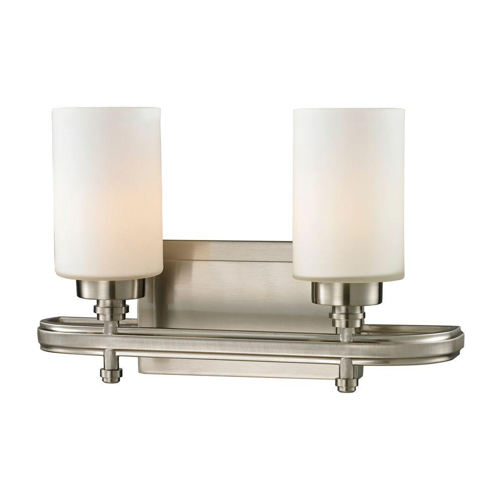 Titan Lighting Derby Light Brushed Nickel LED Bath LightTN - Brushed nickel led bathroom light