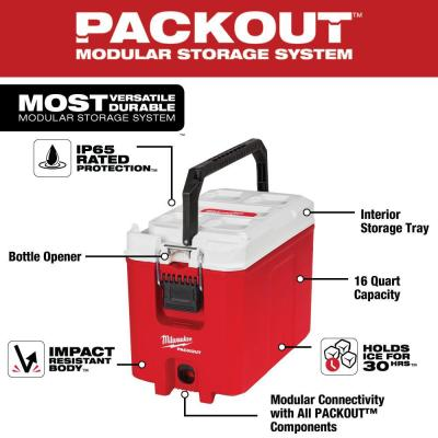 PACKOUT 16 Qt. Compact Cooler