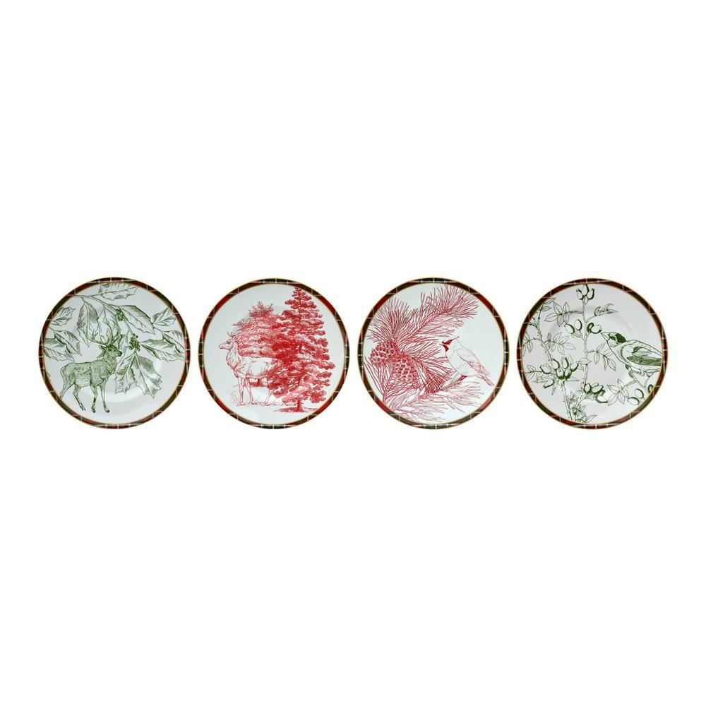 Solstice 4-Piece Appetizer Plates