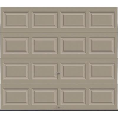 Classic Collection 8 ft. x 7 ft. 18.4 R-Value Intellicore Insulated Solid Sandtone Garage Door