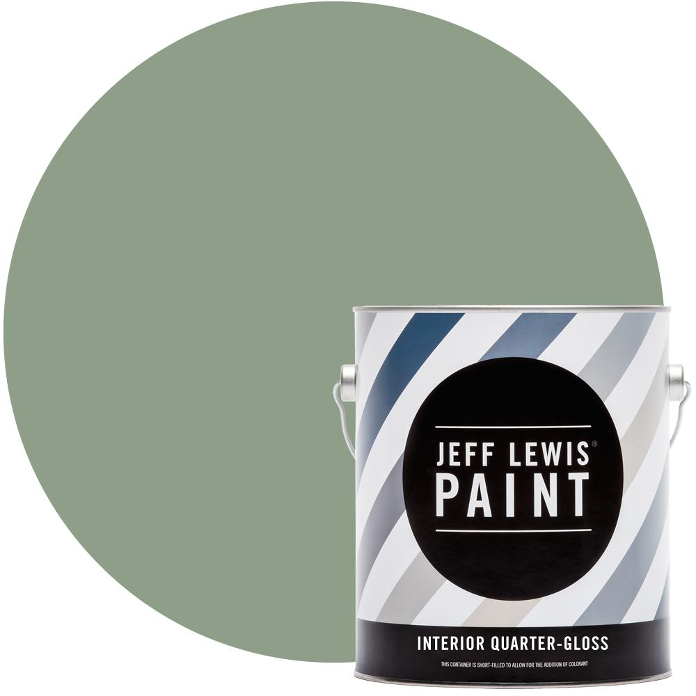 Jeff Lewis 1 gal. #510 Dirty Martini Quarter-Gloss Interior Paint