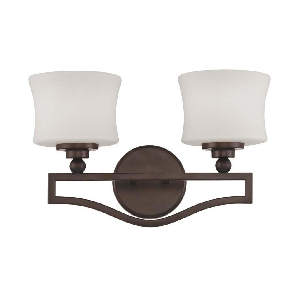 Proleg 2-Light English Bronze Bath Vanity Light