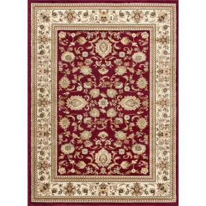 tayse rugs sensation red 11 ft x 15 ft transitional area rug sns4720 11x15 the home depot. Black Bedroom Furniture Sets. Home Design Ideas