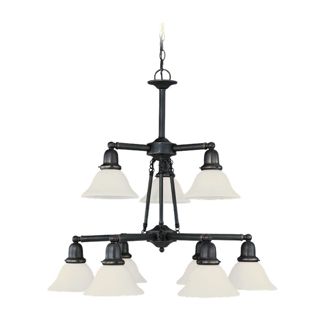 Sea Gull Lighting Sussex 9-Light Heirloom Bronze Chandelier