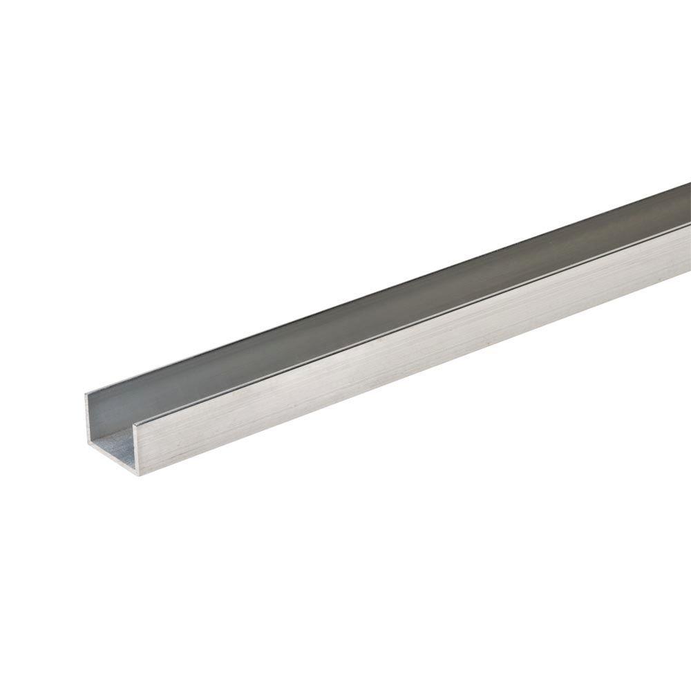 """Aluminum Z Bar 1//2/"""" x 3//4/"""" x 1//8/"""" Thick x 6ft Long"""