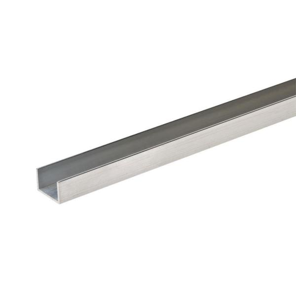 1 in. x 1 in. x 1/8 in. x 48 in. Aluminum Trim Channel